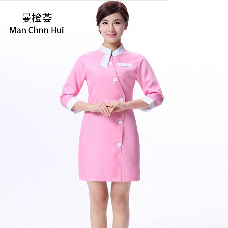 Nurse uniform Beautician overalls Medical clothing Beautician dress Beauty salon uniforms Spa uniforms headpiece
