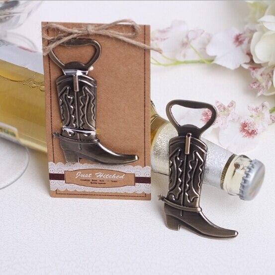 Cadeaux et cadeaux cadeaux pour invités   Bottes, ouvre-bouteille, chaussures, cadeau souvenir pour fête, 100 pièces/lot