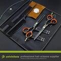5.5 professional hairdressing scissors tesouras do barbeiro desbaste tesoura de corte de cabelo máquina de cortar cabelo tesoura definir japonês coiffeur cabelereiro