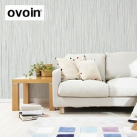 Plain Classic Pattern Silver Grey Vertical Stripes Wall Wallpaper Textured Embossed Wall Paper For Office Room