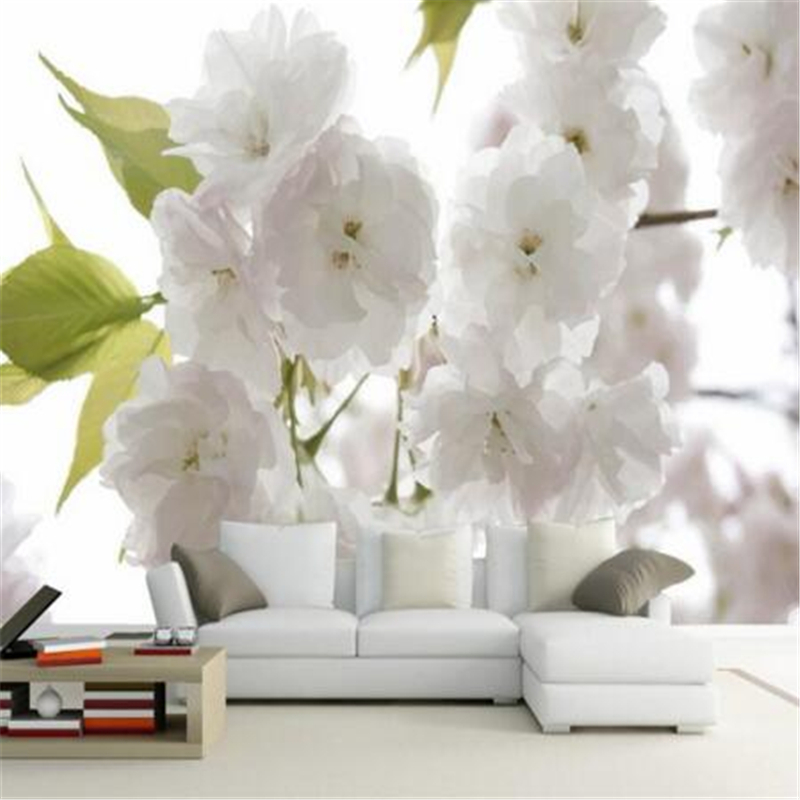 Beibehang 3D photo wallpaper 3d white fantasy flower living room sofa bedroom background 3d big wall wallpaper modern painting book knowledge power channel creative 3d large mural wallpaper 3d bedroom living room tv backdrop painting wallpaper