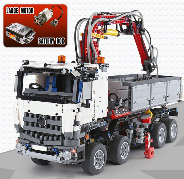 3245Pcs NEW DHL 20005 technic series Compatible with 42043 Arocs 3245 Set Car Model Building Block Bricks Boys Toy Car Gift