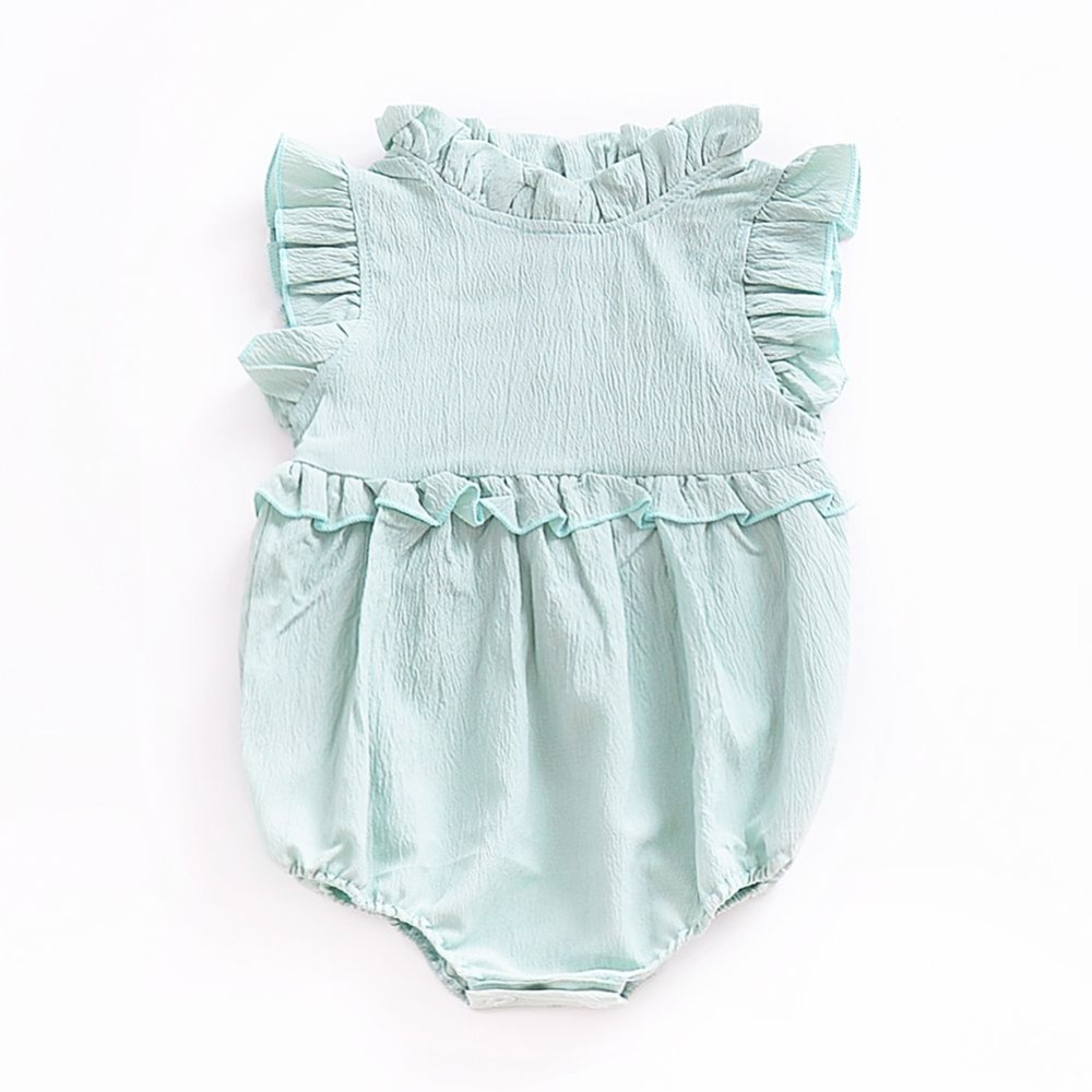 Baby Girl Dress Newborn Baby Clothes Cute Draped Neck Infant Girls Dress Puff Sleeve Baby Girl Clothes Summer цены
