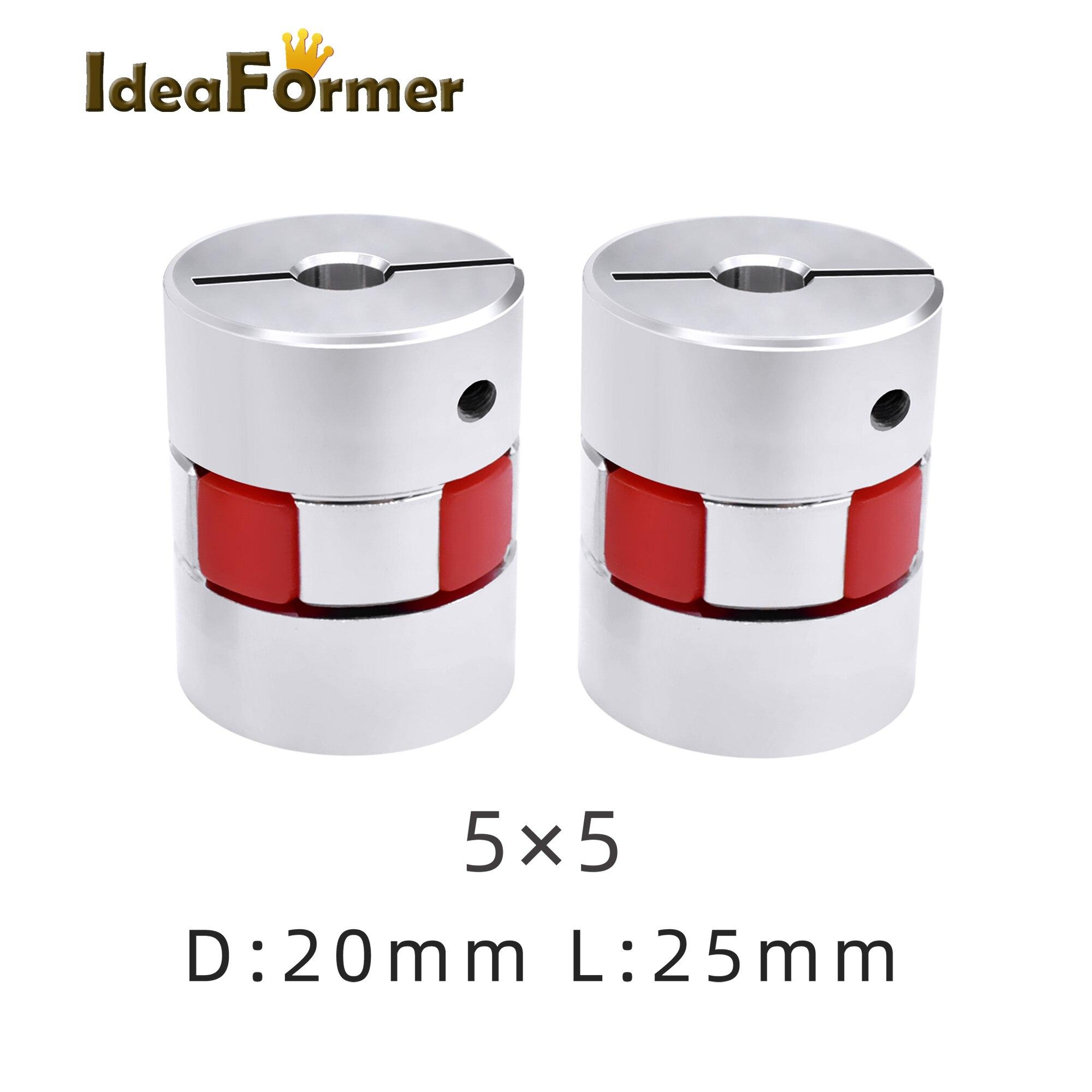 Set Screw Type 19 mm and 1 mm Bore Diameter A2017 Aluminum NBK MJC-55-WH-19-1 Jaw Flexible Coupling