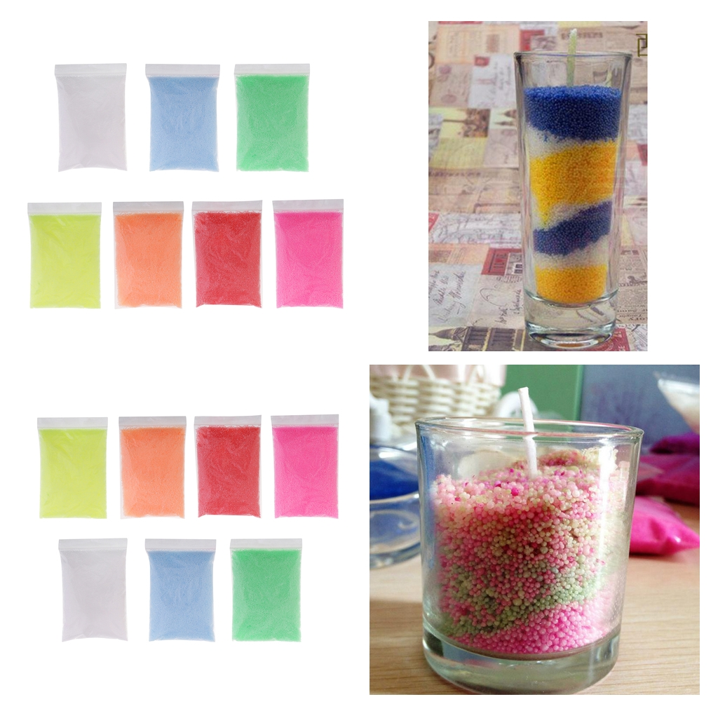 US $16.07 18% OFF|700g Colored Paraffin Wax Pellets Beads for Candle Making  Colored Sand Wax Pearl Wax Kids DIY Candle Craft Materials-in Candle ...