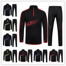2016 Survetement football French tracksuit italia training suit kits Soccer Chandal French training shinny pants sweatershirt