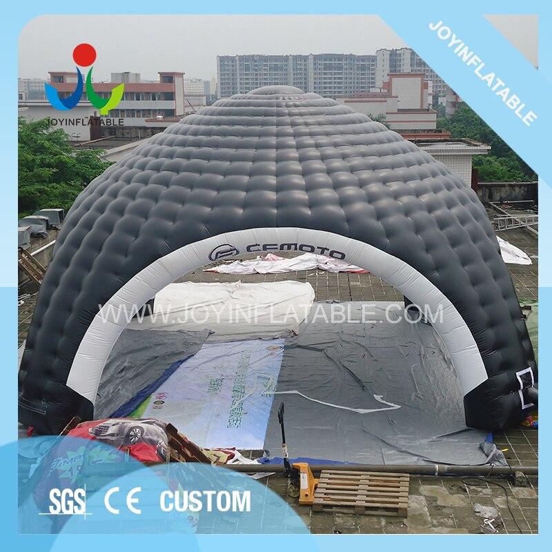 Tente gonflable géante de voiture de dômes de 10X10M pour le Camping, tente gonflable noire et blanche d'araignée avec imperméable - 6