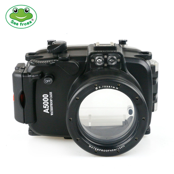For Sony A5000 Camera 16-50mm Waterproof Housing Case Scuba Dive Underwater 40m Photography Device + Filter Fisheye Stabilizer 1