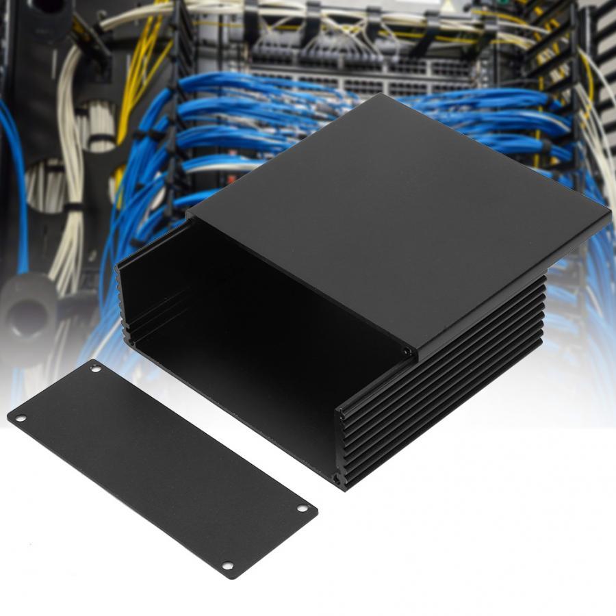 Black Extruded Aluminum Enclosure PCB Instrument Box DIY Electronic Project