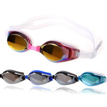 все цены на Men Women Professional Training Electroplate Waterproof Anti fog UV Protection Silicone Swimming Goggles Glasses Swim Eyewear онлайн