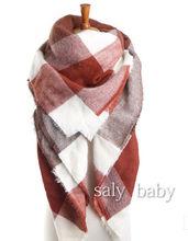 New design Women Oversized blanket multi colors Plaids font b Tartan b font Scarf Wraps Shawl