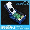 Caso C2: Raspberry PI 3 modelo B Azul Acrílico Transparente Da Tampa Do Caso Shell Caixa De gabinete para Raspberry PI 2 Modelo B e B +