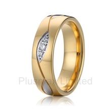 China barato puro titanio joyería fabricante alto pulido interior comodidad fit vintage mujeres boda anillos de compromiso