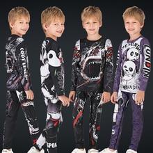 Детские Майки для ММА бокса, компрессионная футболка ММА+ штаны, Рашгард Jiu Jusit, облегающие брюки с длинными рукавами, детский спортивный костюм для ММА