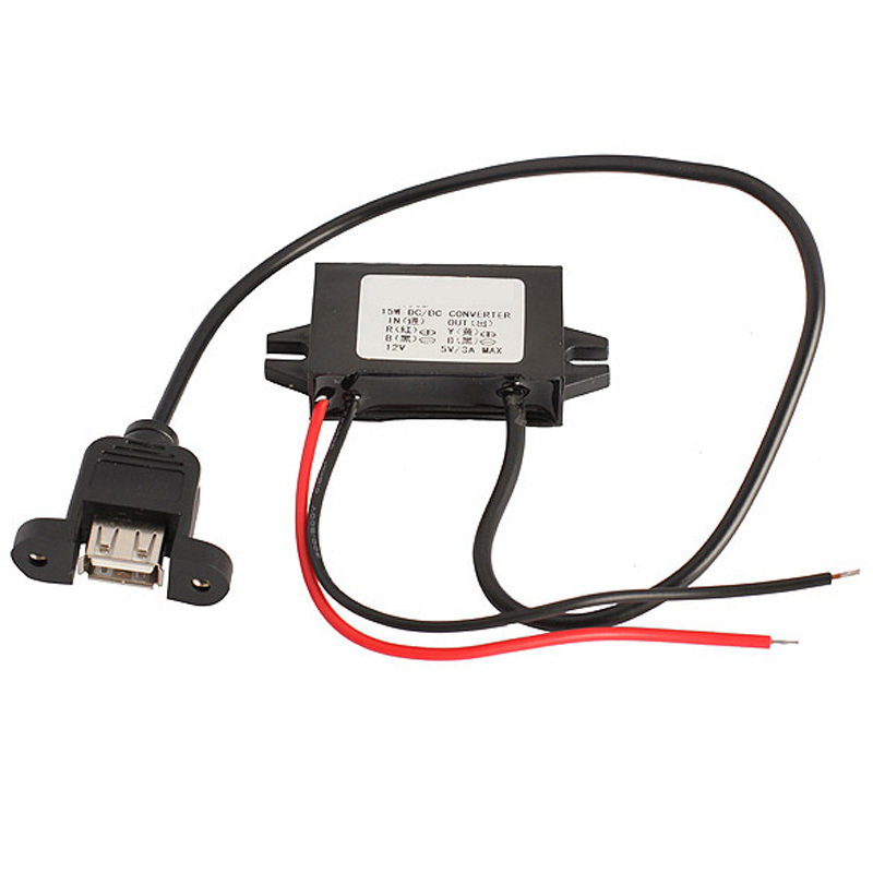 12V to 5V Dual Single USB Power Adapter Converter Connector Car Motor 3A Charger