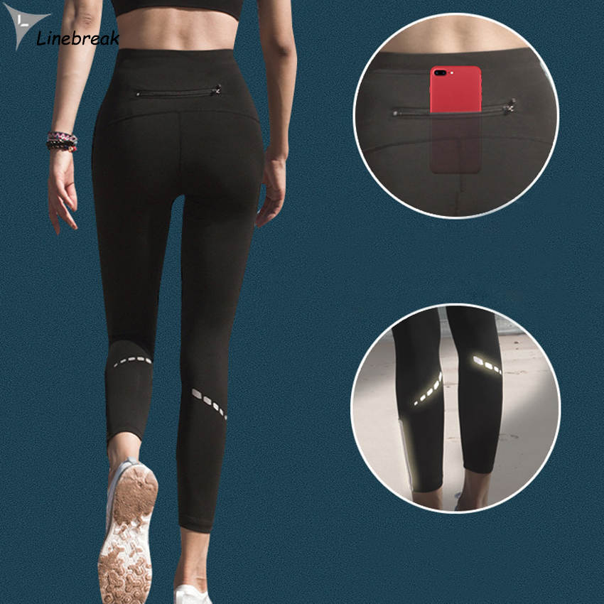 Jogging Pants Women Fitness Running Sports Pants Ladies Gym Training Pants Trousers Yoga Reflective Tights Female Sportswear reflective leggings glow in the dark night light side stripes shiny sports yoga pants dancing tights sportswear for women female