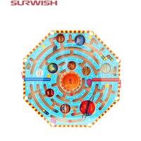 Surwish Nova chegada Ímãs Enigma Nove Planetas Divertidos Jogos de Labirinto Magnético Labirinto Crianças Brinquedo De Madeira frete grátis