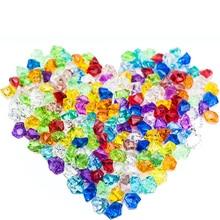 50 шт., пластиковые кристаллы 25*18 мм, акриловые кристаллы, алмазная пешка, неправильные каменные украшения для вечеринки и праздника, сделай сам