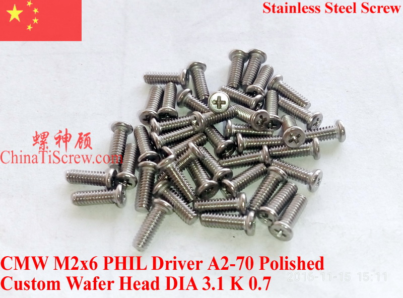 Stainless Steel screw M2x6 Wafer Head Phillips driver Polished ROHS 100 pcs lodestar professional ceramic slot screw driver 0 4 x 0 9mm