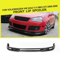 Carbon Fiber Front Lip Spoiler Chin Bumper Protection For Volkswagen VW Golf 5 V MK5 GTI 2006 2009 Car Styling