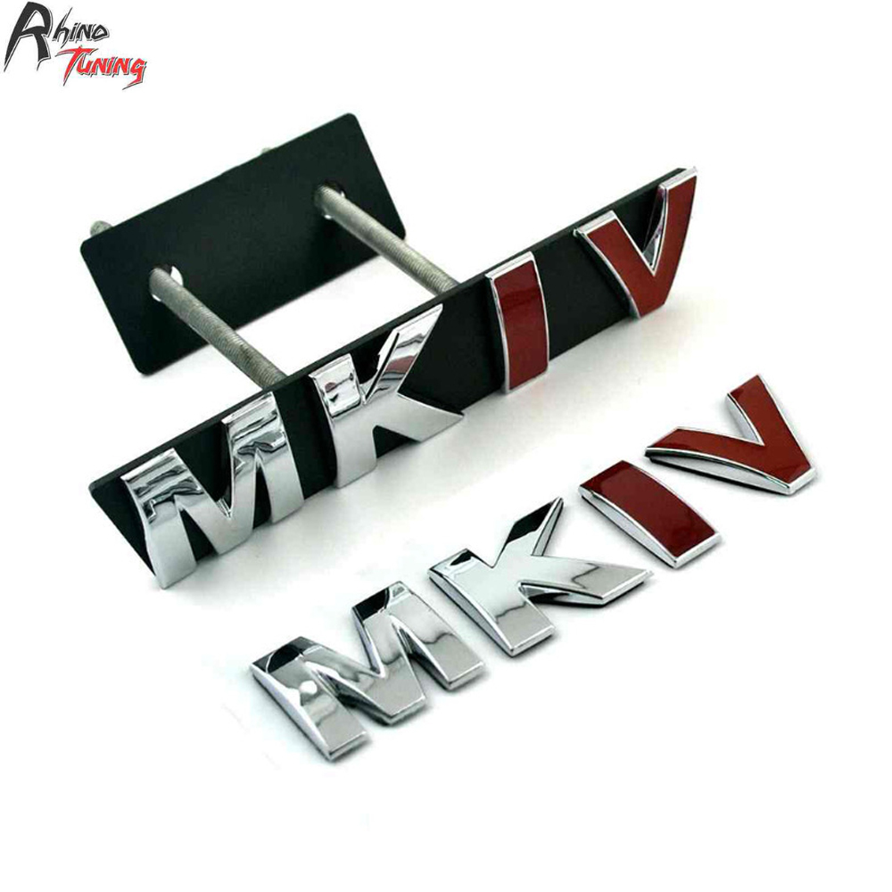 Rhino Tuning MKIV Auto Styling Car Front Grille Grill Emblem Badge MK Series For Golf 4 MK4 MKIV R32 Sticker 20735 frp fiber glass car styling hood bonnet lip chin valance fin add on tuning parts for nissan skyline r32 gtr gts