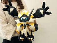 Necrozma Solgaleo combination eclipse Transform version lion plush soft cute doll game toys for friend Anime collect gift