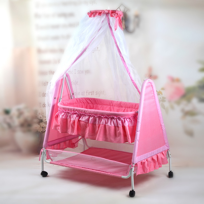 Cradle baby cradle hammock bed crib swing table newborn sleeping basket car BB rocking bed with roller baby cradle bed hammock baby swing 0 12 iron beds with wheels mosquito net cyet6