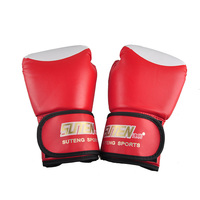 2017 Hot Selling SUTEN Training Fighting Sandbag Boxing Gloves PU Leather Kickboxing MMA Sanda Gloves White