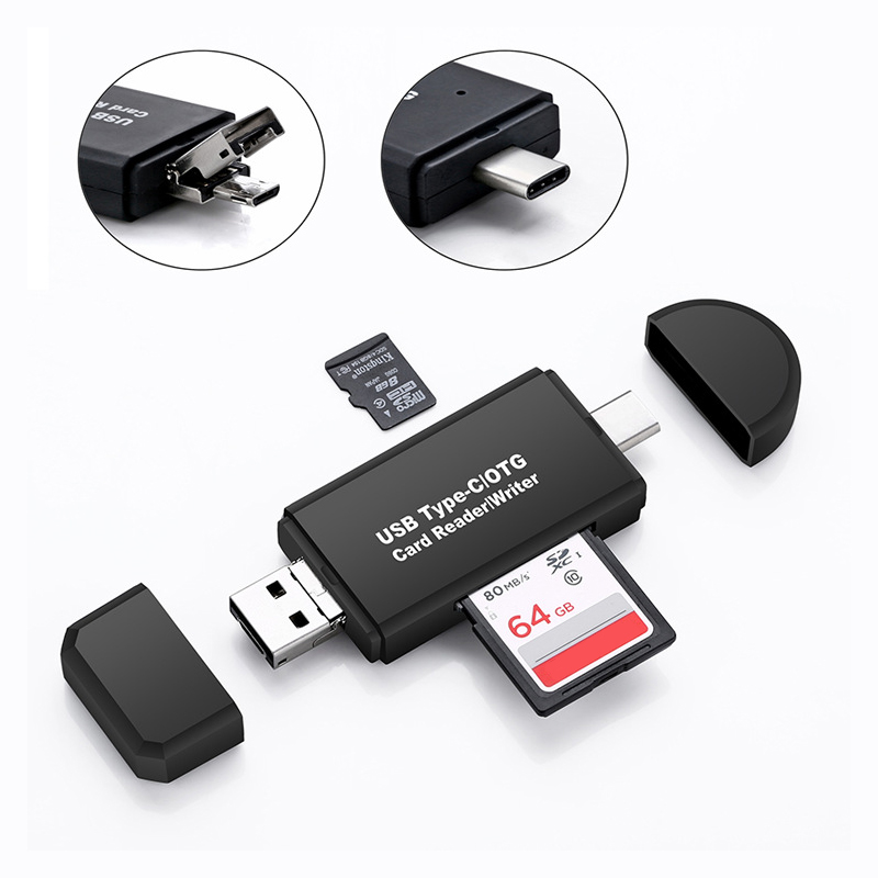 3 In 1 High-speed Universal OTG TF/SD Card Reader Type C/micro USB/USB Card Reader Android Computer laptop accessories connector