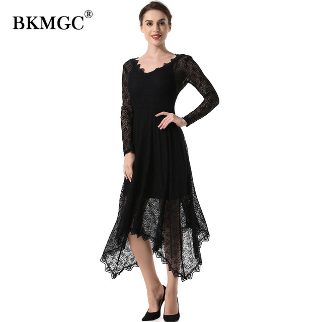 BKMGC GLK01 YLK01 New Lace Dresses Custom 29colors Women Elegant Sleeveless Floral Long Lace Bodycon Office