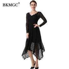 BKMGC GLK01 YLK01 New Lace Dresses Custom 29colors Women Elegant Sleeveless Floral Long Lace Bodycon Office Dress
