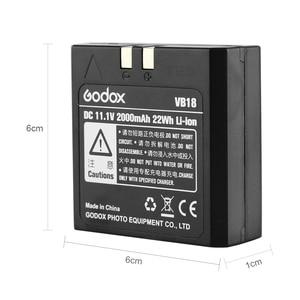 Image 3 - Godox V850 V860 Speedlite Li ion pil VB18 DC 11.1V 2000mAh 22Wh lityum iyon