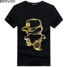 Binyuxd descuento 2019 nueva moda verano hombres Camiseta cómoda del algodón del o-cuello camiseta ocasional de manga corta