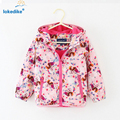 Hot Sale Baby Girls Coat Spring 2017 New Windproof Outwear Coats Warm Hooded Jacket Toddler Girl Clothing Kids Girl Clothes T694