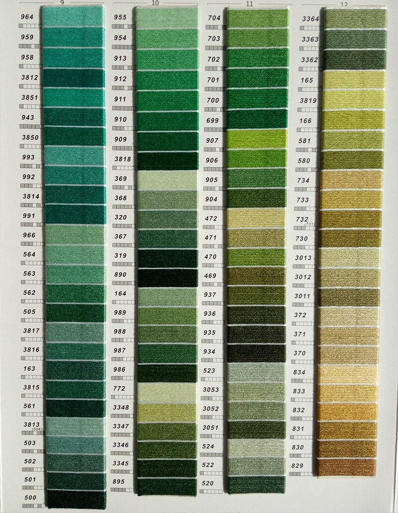 447Pics DMC Colors 100%Cotton Floss Embroidery Threads Cross Stitch ...