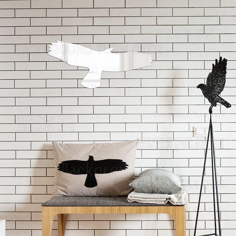 FAI DA TE Flying Eagle 3D Acrilico Adesivi Murali Specchio Negozi Porta del  Bagno Salotto Camera Da Letto Soggiorno Home Decor Decorazione di Arte R060 caa44de4218