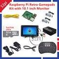 Raspberry Pi 3 Модель B 32 ГБ RetroPie Игры Комплект с геймпад Джойстик и 10.1 дюймов 1366*768 ЖК-Дисплей ЖК-Экран монитор