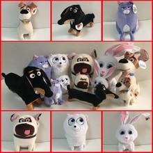 Фильм Тайная жизнь домашних животных снежок Duke Max плюшевые игрушки мягкие куклы дети подарок