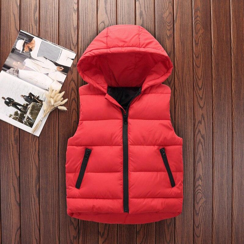 Autumn Children Warm Vest Kids Thicken Waistcoat Kids Outerwear Vest Children Clothing Teenager Boys Girls Hooded Jackets Vest 2