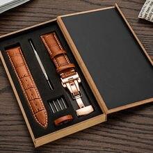Кожаный ремешок для часов мужчин и женщин 24 мм 22 20 18 16