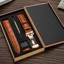 Leather Watchband Men Women Watch Band 24mm 22mm 20mm 18mm 16mm 14mm Wrist Watch Strap On Belt Watchbands Bracelet Metal Buckle цена