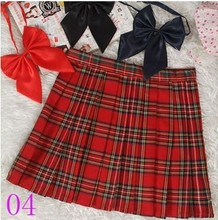 Preppy Style Japanese School Girl Plaid Pleated Skirt High Waist Short Tartan Skirts Saias