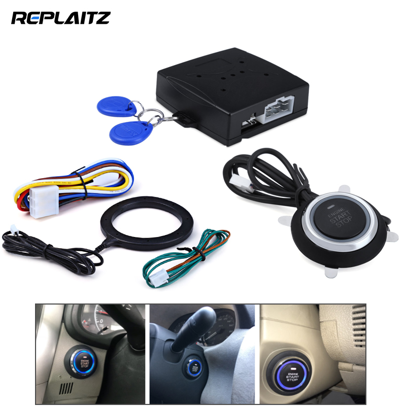Car Ignition Switch Keyless Entry Starter Kit 12V RFID Engine Start Push Button