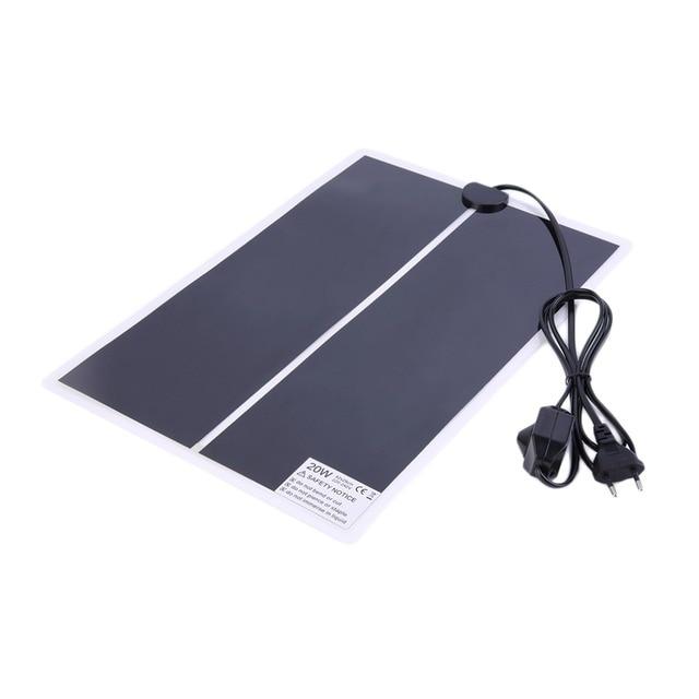 OUTAD 42 x 28cm IR 20W Adjustable Temperature Heating Pad Mat for Reptile Amphibians Pet Dog Cat Puppy warmer Bed Plug EU
