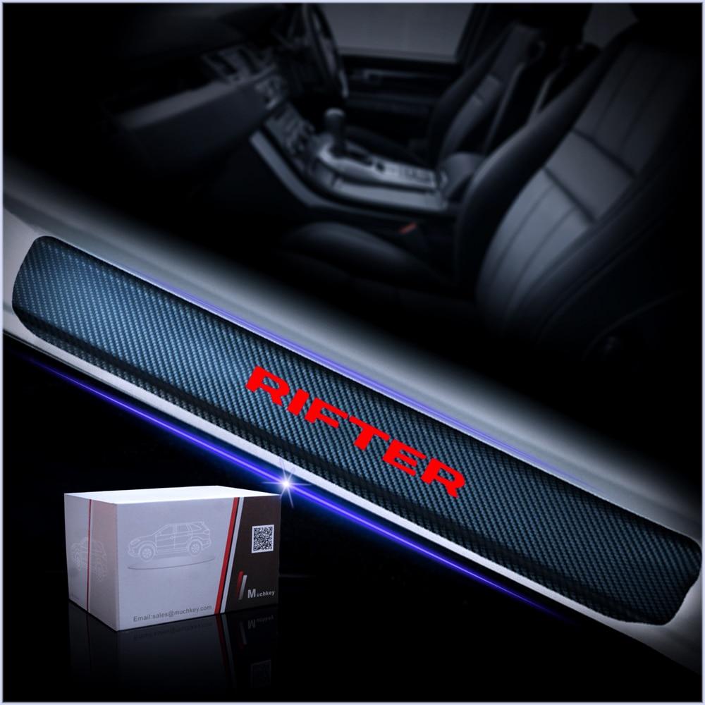 Davanzale Portiera Fibra di Carbonio Auto Parti Anti Usura Graffio MWDDM Protettore Battitacco per Peugeot 308 4 Pezzi Adesivi Soglia Auto