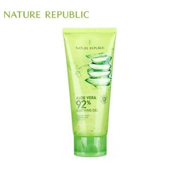 Nature Republic 250ML Korea Cosmetics Soothing Moisture ALOE VERA 92% Acne Treatment Face Cream for Hydrating Moist Gel