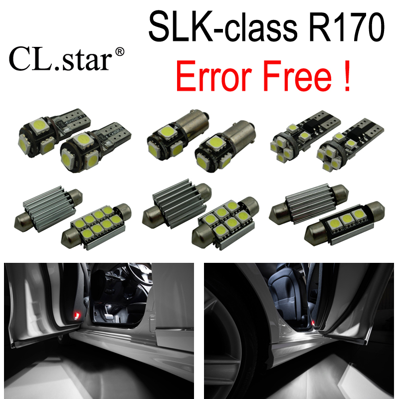 11pc X Error Free LED interior dome light lamp Kit package For Mercedes Benz SLK class R170 SLk230 SLK320 SLK32 AMG (1996-2003) 2pcs lot error free direct fit led number license plate lights lamp for benz w251 r class w164 ml class x164 gl class