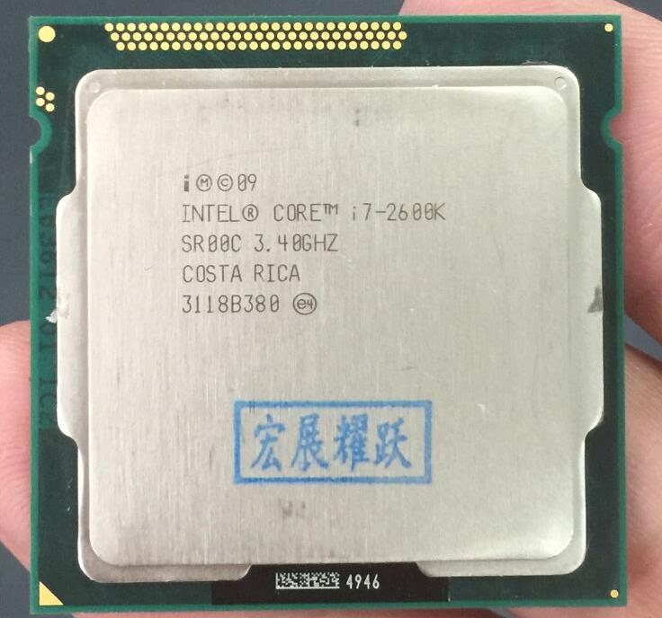 Intel Core i7-2600k i7 2600 k Processeur (8 m Cache, 3.40 ghz) quad-Core CPU LGA 1155 100% fonctionne correctement De Bureau Processeur