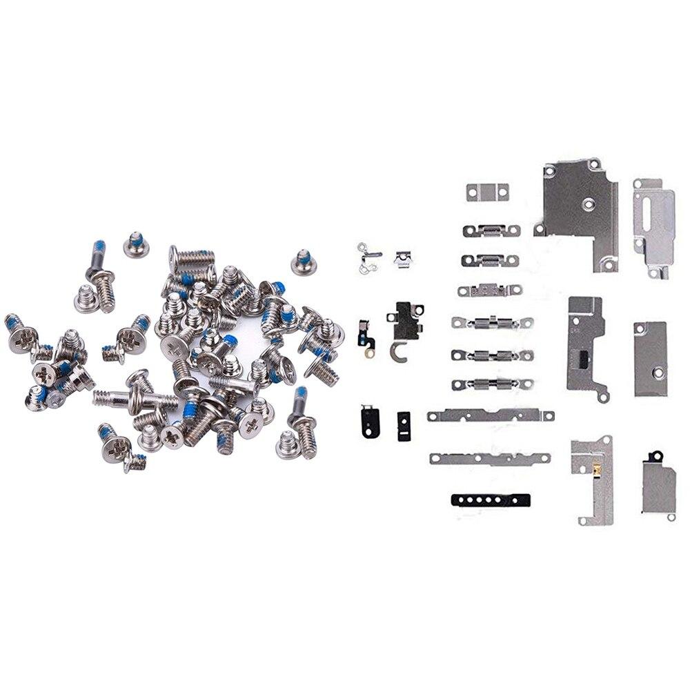 Repair Replacement Parts For IPhone 6 6p 6s 7 8 8 Plus Holder Bracket Fastening Pad Spacer + Full Screws