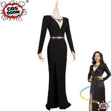 Cosboom Solo A Star Wars Story Qira Emilia Clarke Black Sexy Evening Dress Adult